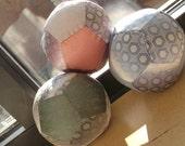 Silk Tie Fabric Ball- Hexagons
