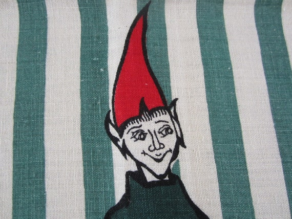 Vintage Towel Leprechauns Elves