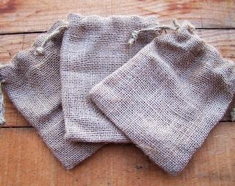 Drawstring Burlap Bags