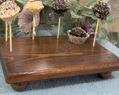 Red Mahogany cake pop stand 12 solid wood made in the USA