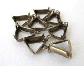 Bell Antiqued Brass Prong Rhinestone Setting Open 1 Ring 10mm set0165 (8)