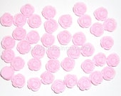 Pink Rose 12mm Cabochons with Flat Backs (40)