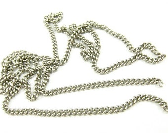 Vintage Stainless Steel Curb Chain - CN18 - 2 Feet