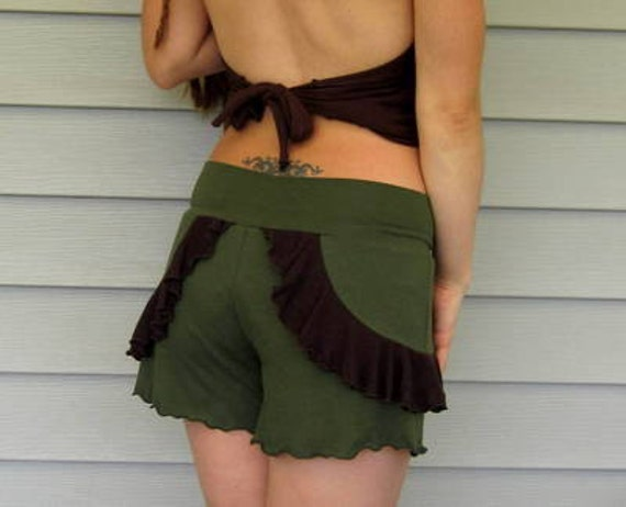 Put A Ruffle On It // Bamboo Jersey Knit Shorts :Made to Order Eco- Friendly Sz. Sm Med Lg XL
