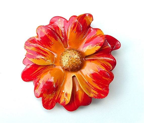 Free Shipping Large Vintage Flower Brooch Fall Fashion