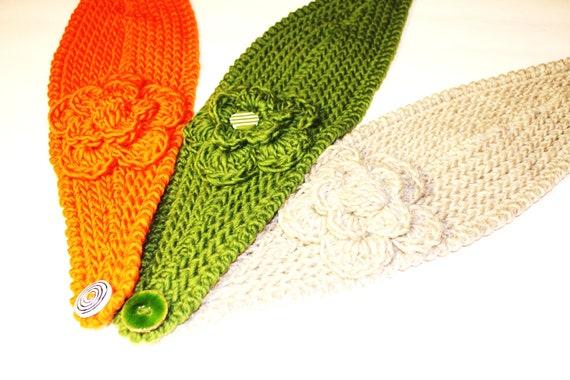 Crochet Flower Pattern Bulky Yarn : PATTERN - Fast Crochet Headband Kayla Bulky Weight Yarn ...