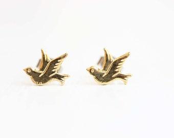 Gold Dove Studs