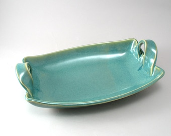 Serving Dish - Pottery - Ceramic Server - Teal - Handmade Tableware - Serving Bowl