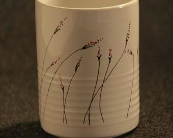 Black & Red Floral Mug