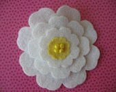 Oversized Felt Flower Hair Clip