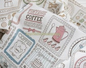 Unique Linen Collection-Antique Victorian Coffee Collection (Fat Quarter)