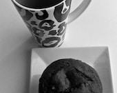 Vegan Valentine Black Forest Chocolate Chip Cherry  Muffins or Vegan Chocolate Muffins Perfect Birthday Gift