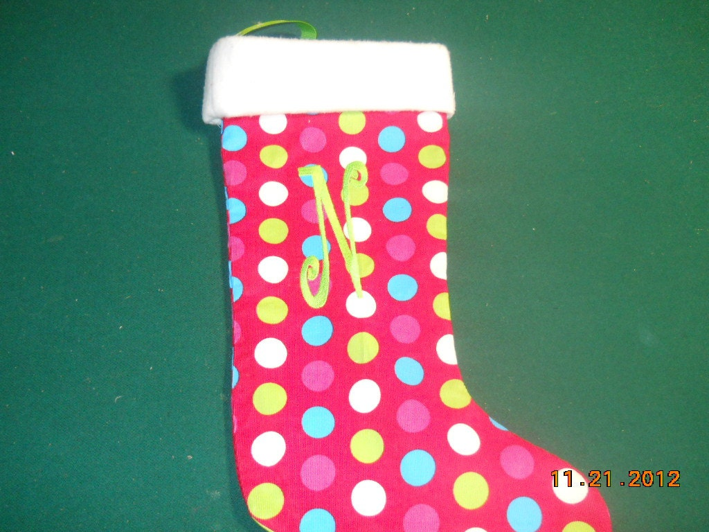 Polka Dot Stocking
