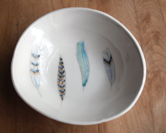 feathers. bowl no.68