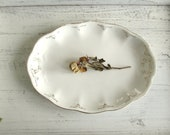 Classic White and Gold Vintage Platter