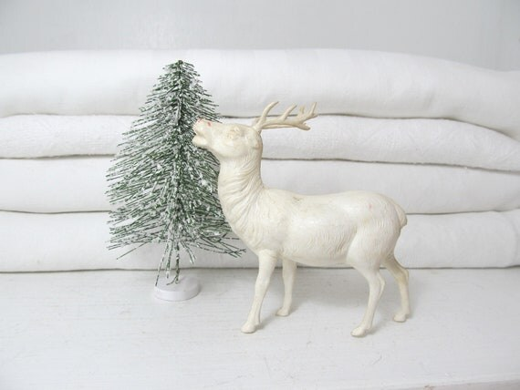 Vintage White Reindeer