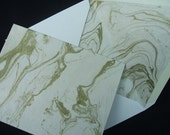 Wedding Note Cards - Gold Marble (Set of 10)