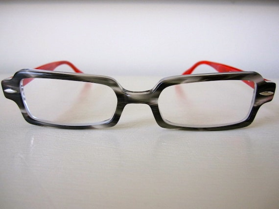 Gray Frame Reading Glasses : EYEglasses READing glasses Gray and Red Frames by ...