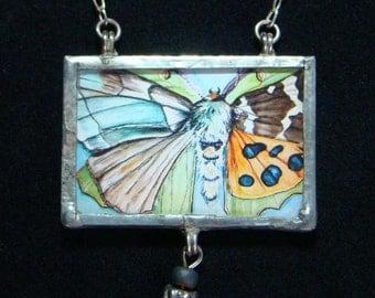 Morph - Pendant necklace - moths