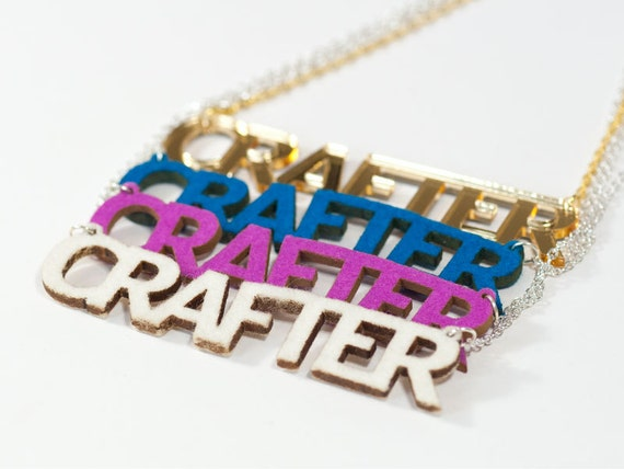 Felt Crafter Necklace - Laser Cut Wool