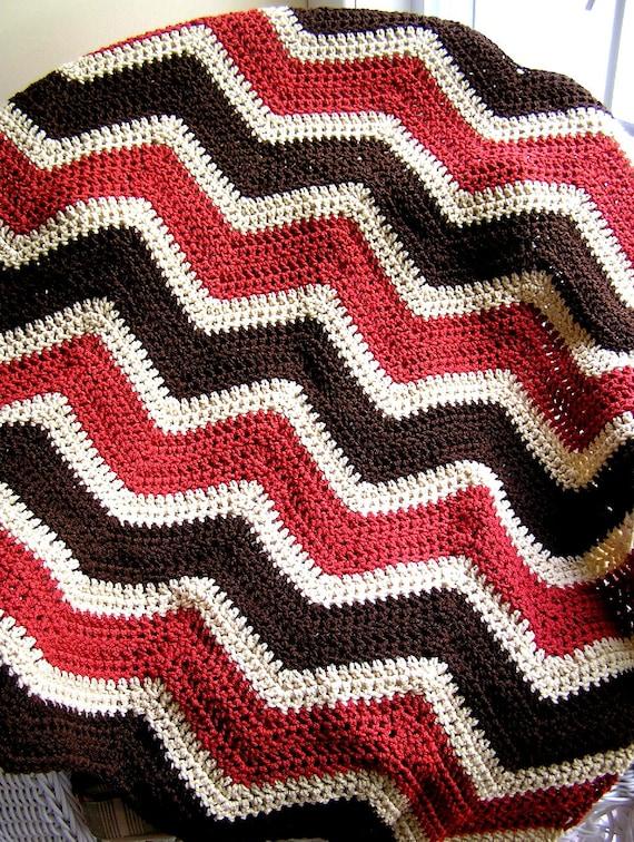 Crochet Zig Zag Baby Blanket : baby blanket afghan wrap chevron zig zag crochet knit lap robe ...
