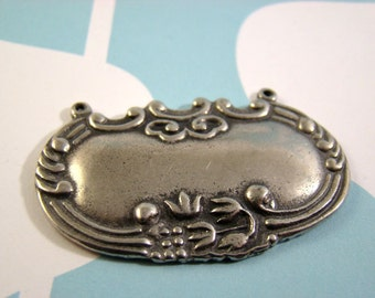 One (1) Pewter Decanter Label Pendant - Perfect for Engraving