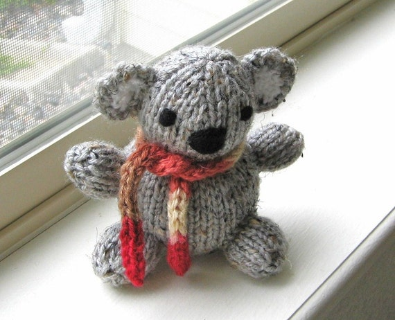 Amigurumi Koala Hand Knit Childrens Plush Stuffed Animal Toy
