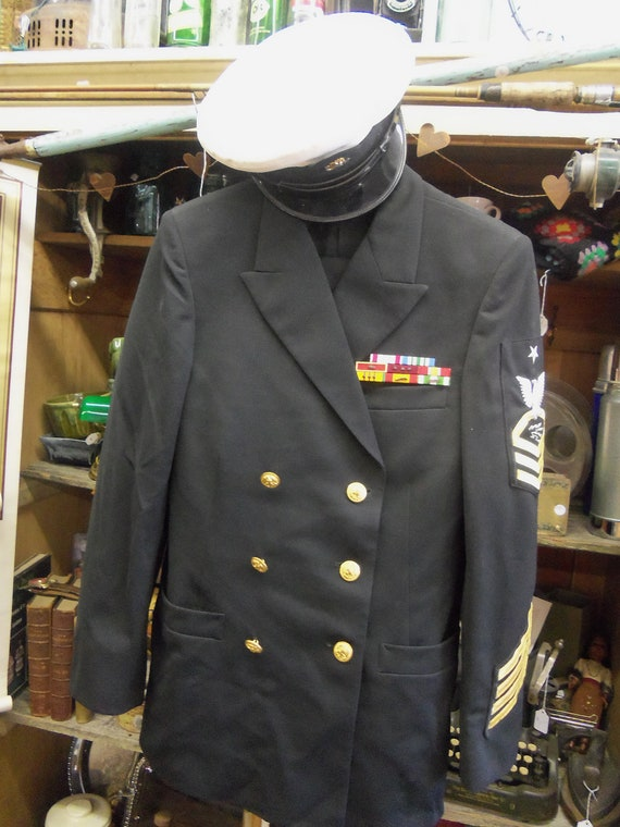 Sale Vintage 1960s Us Sr Chief Navy Officers Uniform With