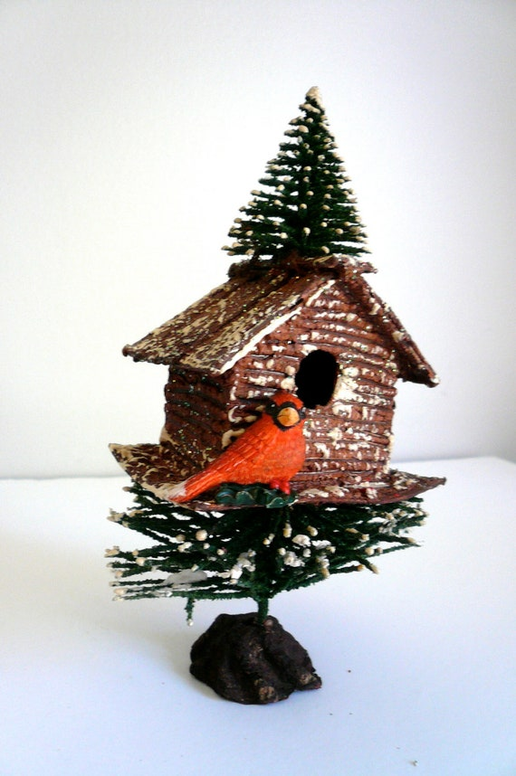 Vintage Bird House Christmas Decoration