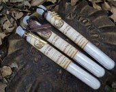 3 HALLOWEEN  FAVORS - bath salt in plastic test tubes - poison labels - Trick or Treat - poison cinnamon apple scented