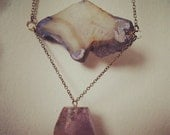 Geode Slice and Ametrine Necklace