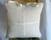 French Country Home Grain Sack Pillow Cover Vintage European Natural Rustic Farmhouse Linen Designer Decorative