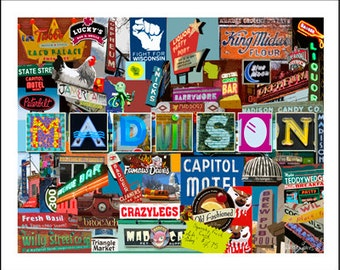 Madison Wisconsin Collage