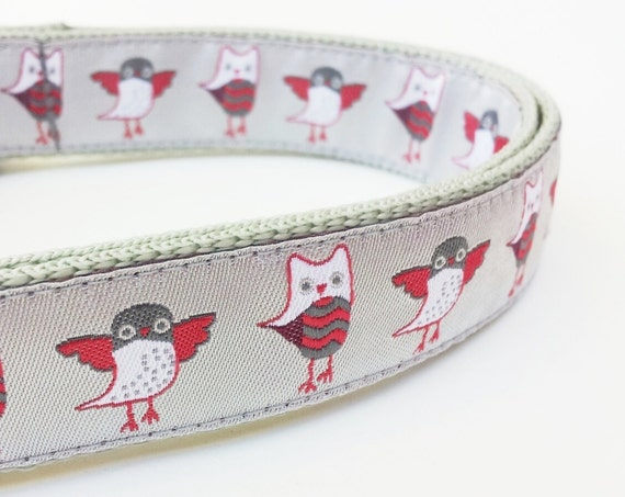 Snow Birds - Dog Collar / Pet Accessories / Handmade / Adjustable