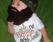 Camo Baby Beard Beanie You Choose Size and Colors