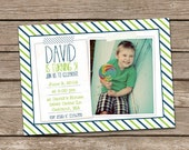 Fabric Tape Boy Birthday Invitation