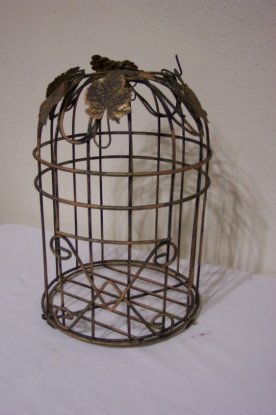 Vintage Birdcage Wedding Card Holder Wire By LuRuUniques On Etsy