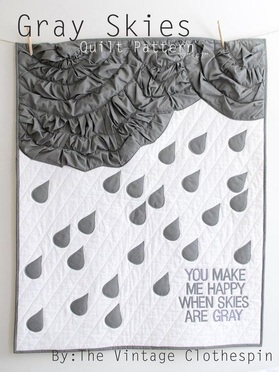 Gray Skies PDF Quilt Pattern