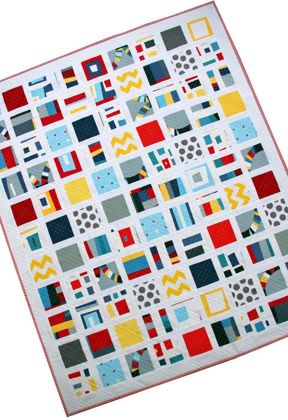 Modern and Colorful Baby and Children's Patchwork Quilt