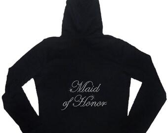 Rhinestone Maid of Honor Hoodie & Pant Set - Lightweight