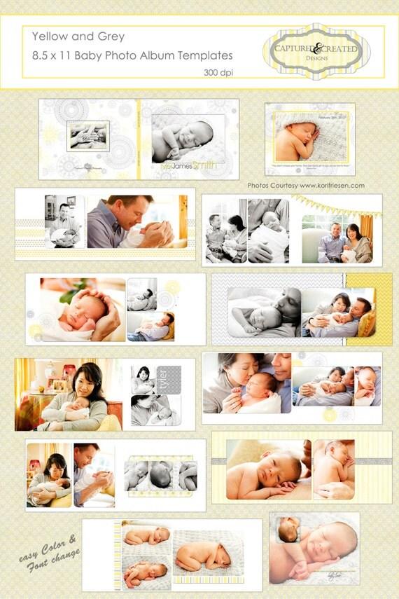 Baby album template | Etsy