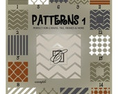 Cuttable SVG Backgrounds - Chevron, Striped, Quatrefoil, Moroccan - SVG Backgrounds and Frames - Ai Eps Gsd Svg - Background Vectors
