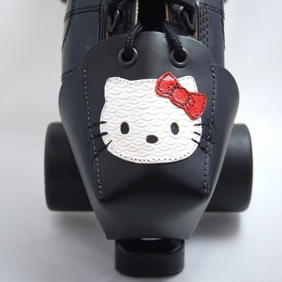 DA-45 Leather Toe Guards with Hello Kitty