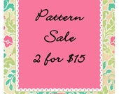 SALE ANY 2 PDF Patterns for 15