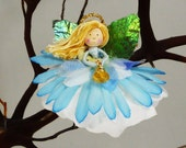 Blue Angel Ornament, Miniature Angel Doll Ornament, Religious Gift, Angel Christmas, Angel Gift, Blue Christmas, Angel Princess
