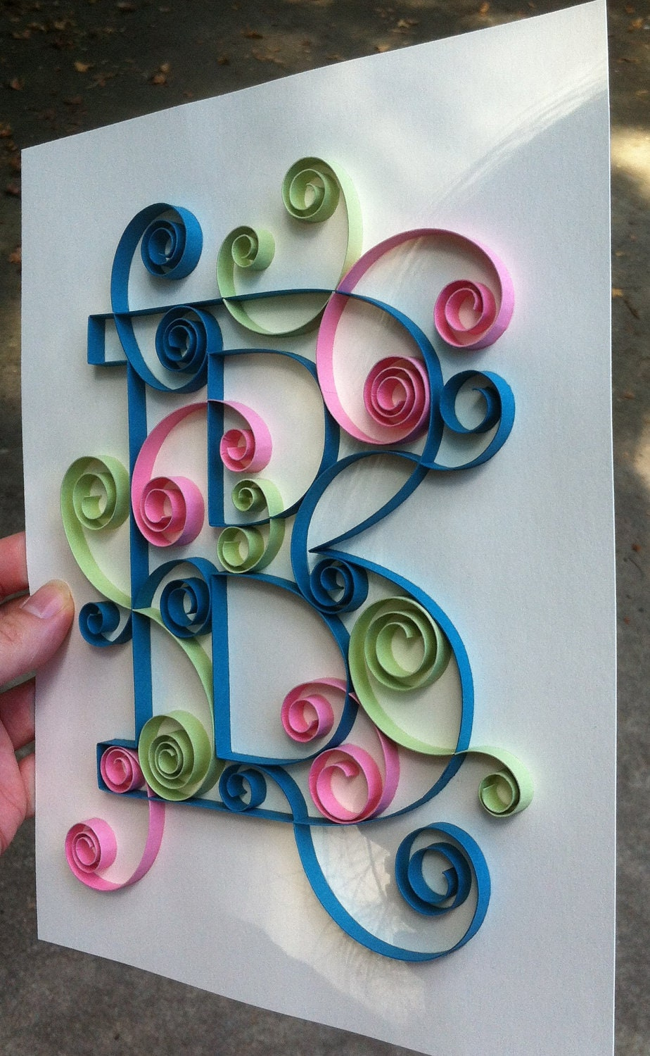 il_fullxfull.374807763_6it3 Quilling Letter B Template on