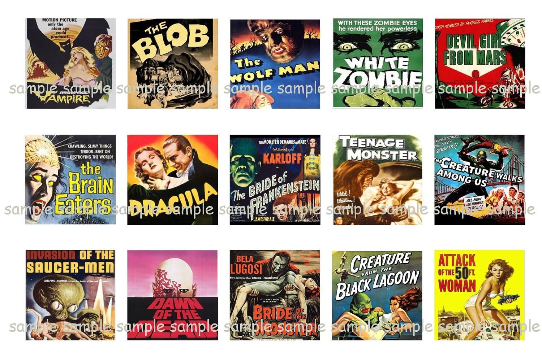 Classic Horror Collage Retro Movie By