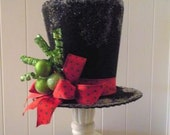 Handmade Felt Top Hat Tree Topper or Decor