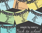 Back to school custom printable sign for the first day of school