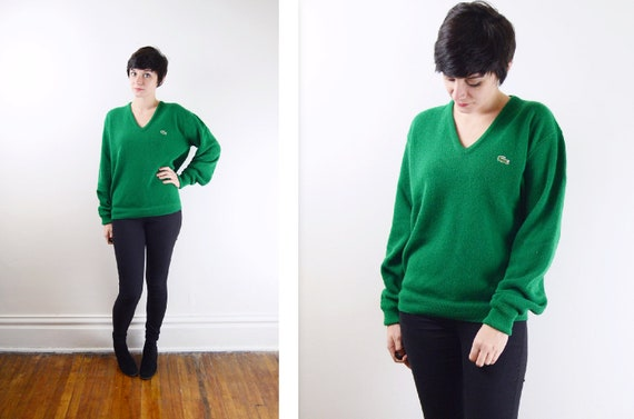 1970s Green Lacoste Sweater -M